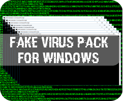 Fake virus pack for Windows