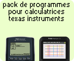 Pack de programmes pour calculatrices Texas Instruments