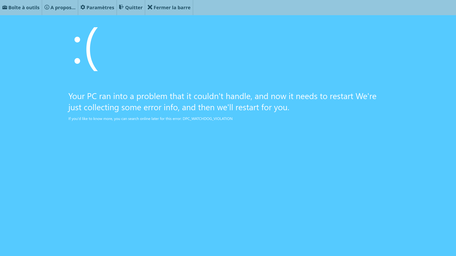 A Windows 8/10 BSOD on the website